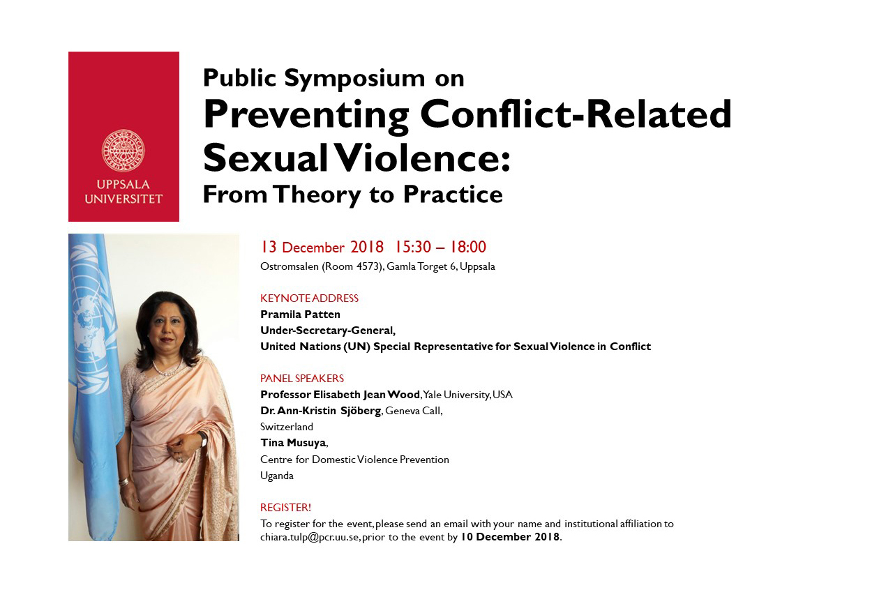 Public Symposium on Preventing Conflict Related Sexual Violence: From Theory to Practice