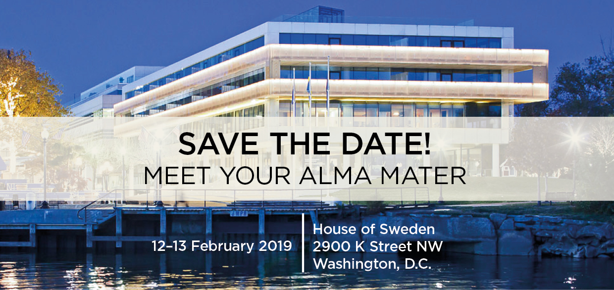 Washington DC - Save the date for Sweden Alumni Reception