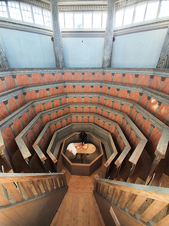 Virtual tour of the Anatomical Theatre with Mikael Norrby